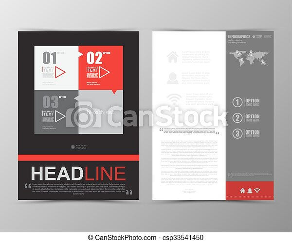 Abstract Geometric Brochure Template Map Flyer Layout  Clipart