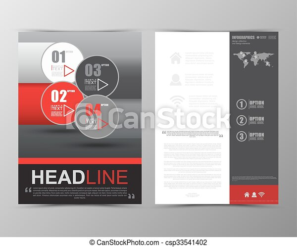 Abstract Geometric Brochure Template Map Flyer Layout  Vector