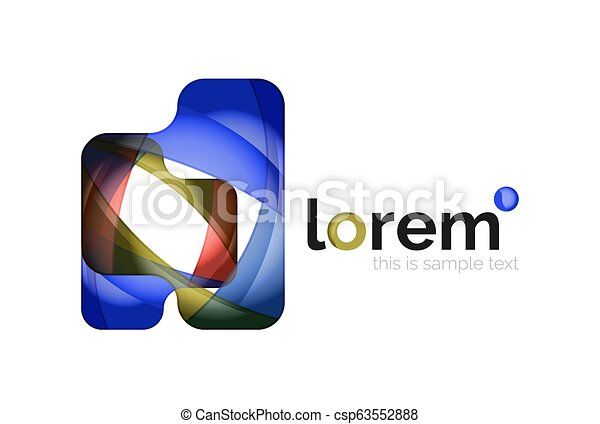 Abstract geometric business icon - csp63552888