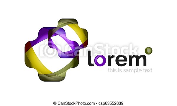 Abstract geometric business icon - csp63552839