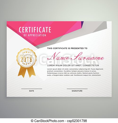 Abstract geometric certificate template design eps vectors search abstract geometric certificate template design csp52301798 yelopaper Gallery