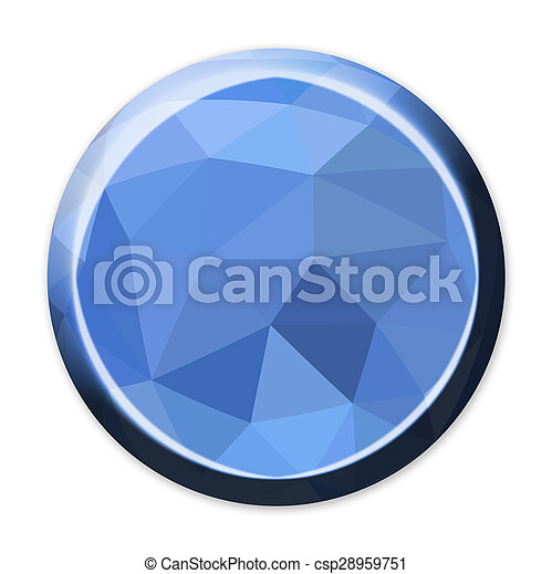 Abstract geometric circle button - csp28959751