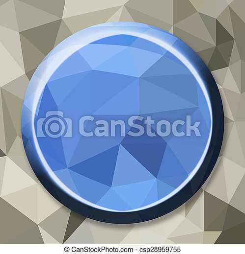Abstract geometric circle button - csp28959755