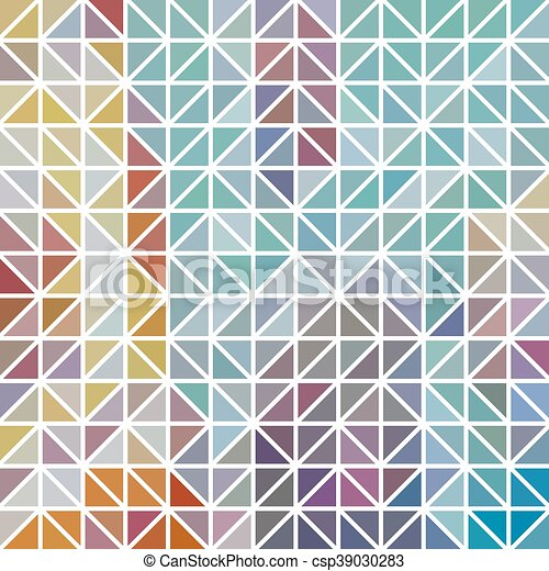 abstract geometric colored triangle grid background mosaic