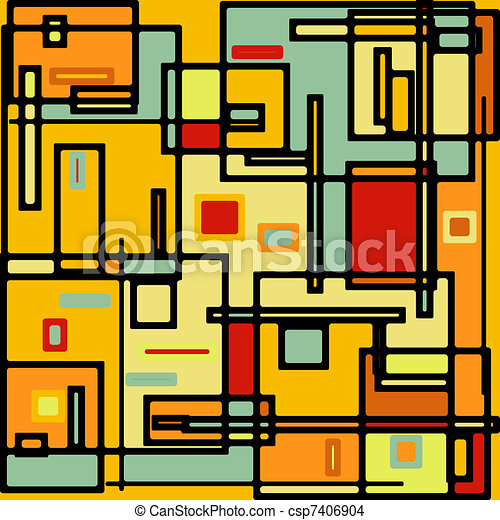 Abstract geometric colorful vector pattern. EPS 8 - csp7406904
