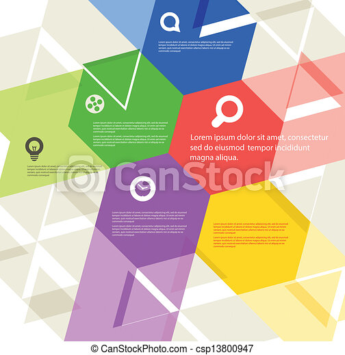 Abstract geometric design template - csp13800947