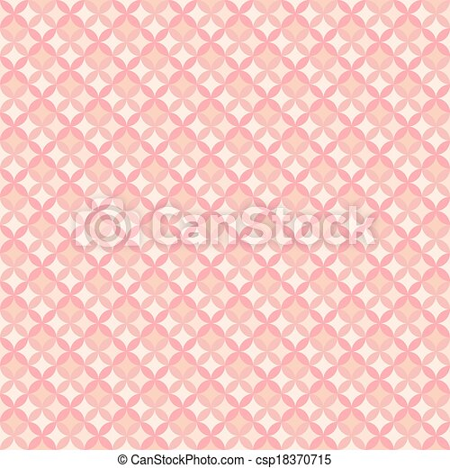 Abstract Geometric Floral Pattern Wallpaper Vector Illustration For Romantic Feminine Design Pastel Pink Color Seamless Background