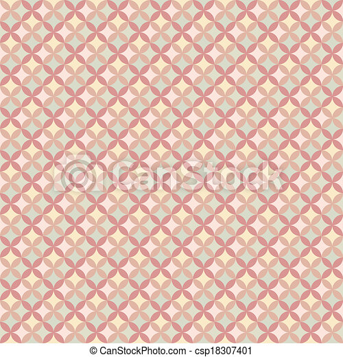 Abstract Geometric Floral Pattern Wallpaper Vector Illustration For Romantic Feminine Design Pastel Pink Yellow And Green Colors Seamless