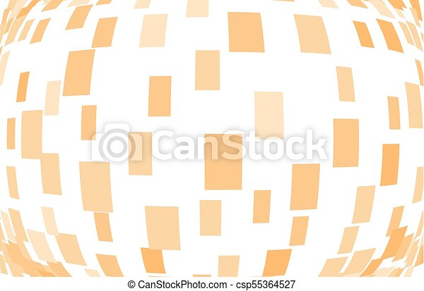 Abstract geometric pattern with squares, rectangles. Orange color Vector illustration - csp55364527