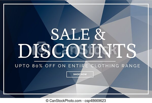 abstract geometric sale banner design template with offer details - csp48669623