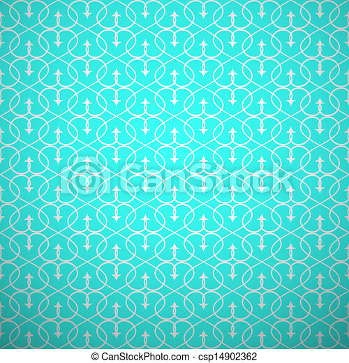 Abstract geometric seamless pattern. Aqua and white style - csp14902362