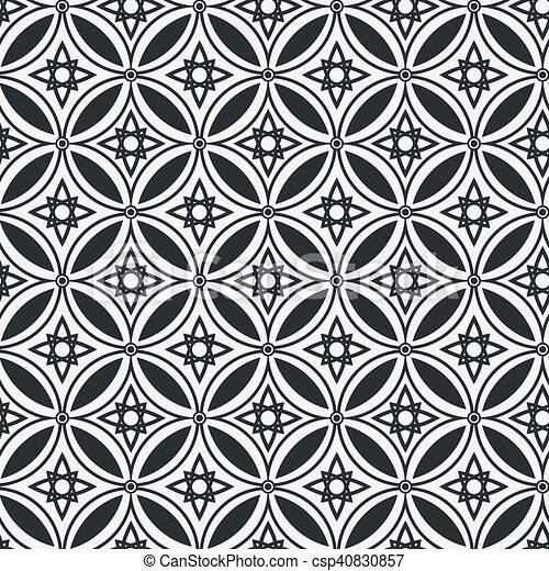 Abstract geometric seamless vector pattern. EPS 10. - csp40830857