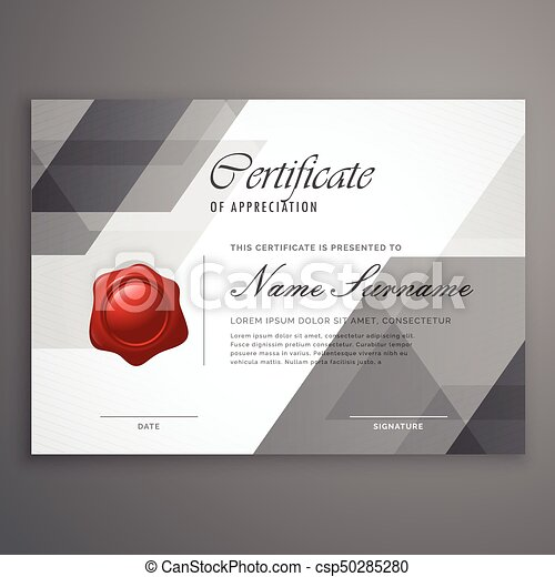 abstract geometric shape certificate design template csp50285280