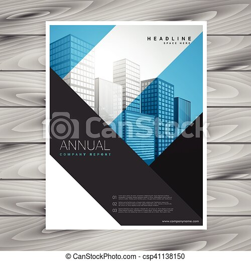 abstract geometric shapes company flyer brochure poster design
