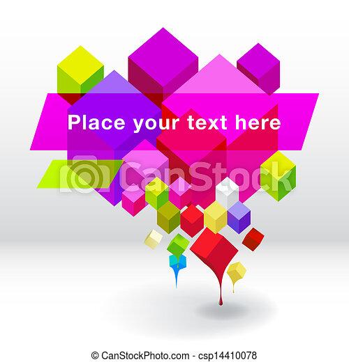 Abstract geometric speech bubble background - csp14410078