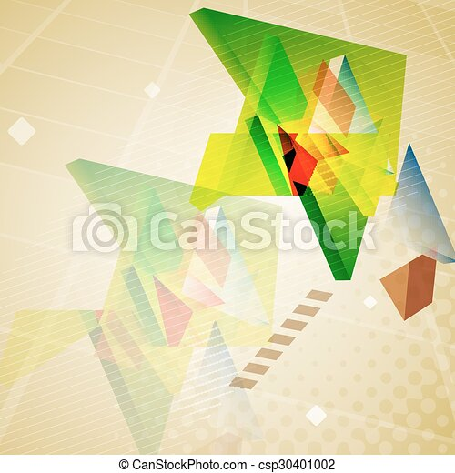 Abstract geometric triangles background. - csp30401002