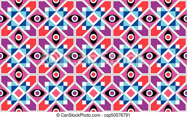 Abstract Geometric vector seamless pattern - csp50576791