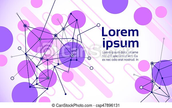 Abstract Geometrical Background Banner Copy Space - csp47896131
