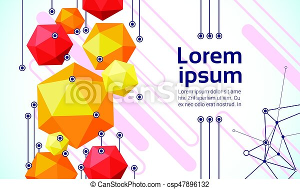 Abstract Geometrical Background Banner Copy Space - csp47896132