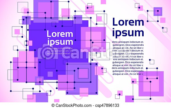 Abstract Geometrical Background Banner Copy Space - csp47896133