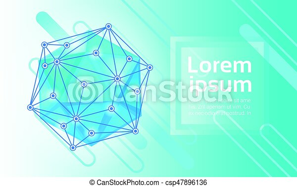 Abstract Geometrical Background Banner Copy Space - csp47896136