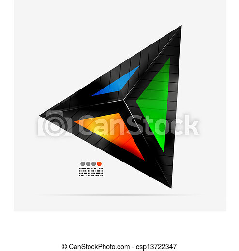 Abstract geometrical shape - colorful triangle - csp13722347