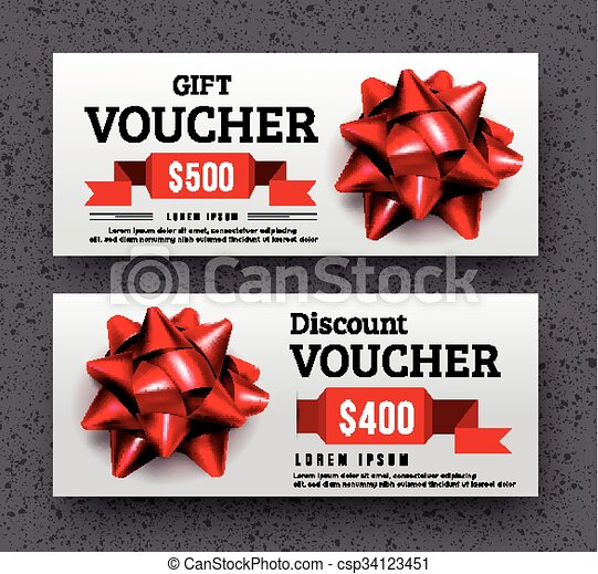 Abstract gift voucher design template. vector illustration clipart ...