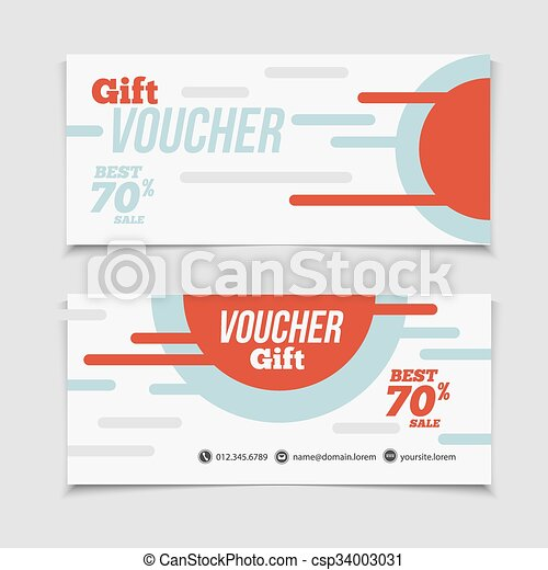 abstract gift voucher or coupon design template voucher design blank print design coupon gift