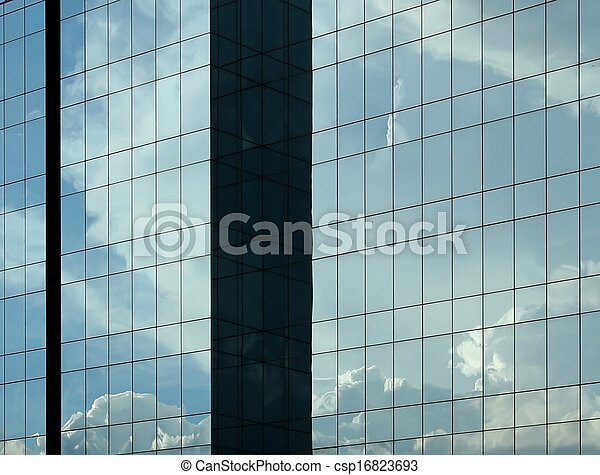 9e067bcdc4d Abstract glass office building. Modern glass building for coporate ...
