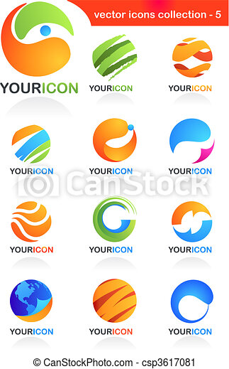 Abstract global business icons - csp3617081