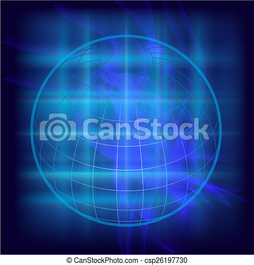 Abstract Globe background - csp26197730