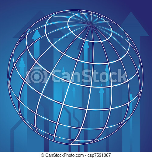 Abstract globe blue background - csp7531067