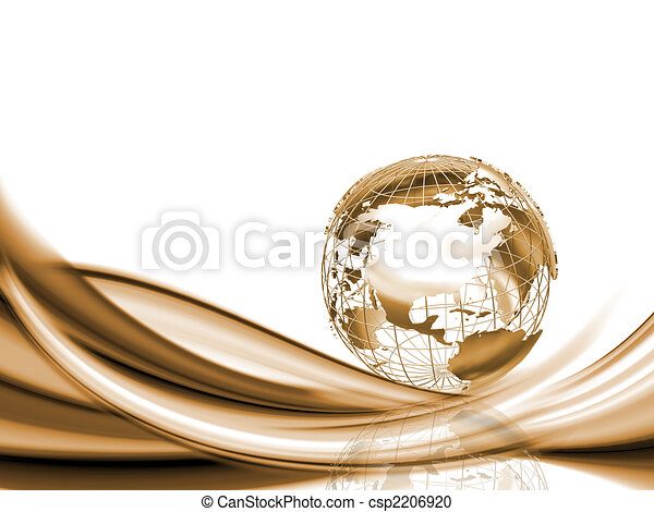 Abstract globe - csp2206920