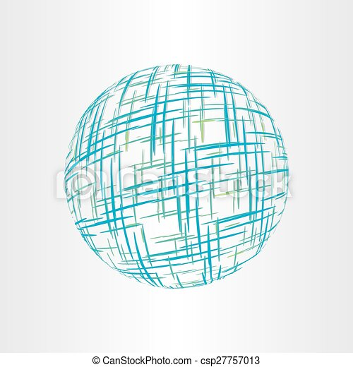 abstract globe earth technology icon - csp27757013