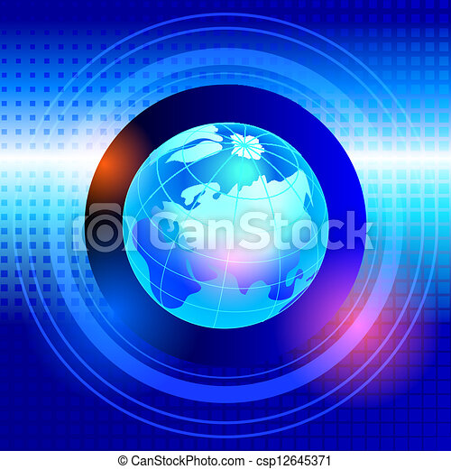 Abstract globe - csp12645371