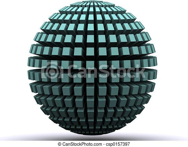 Abstract globe - csp0157397