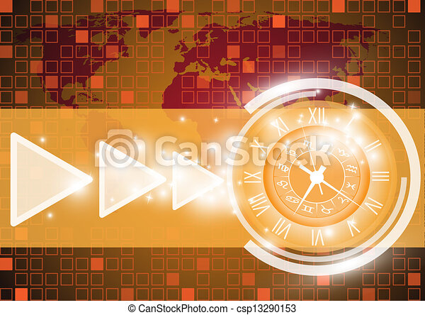 Abstract globe vector and technolog - csp13290153