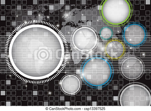 Abstract globe vector and technology background. eps10 - csp13397525