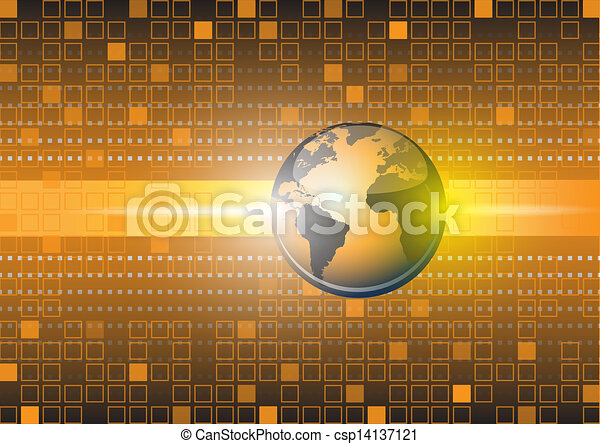 Abstract globe vector background - csp14137121