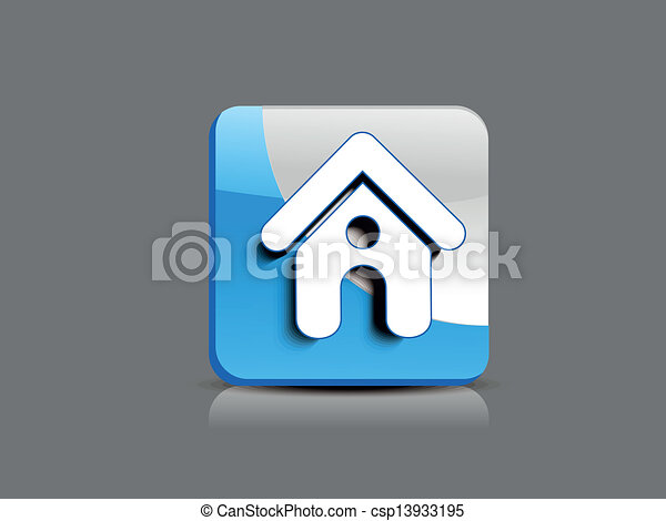 abstract glossy home button - csp13933195