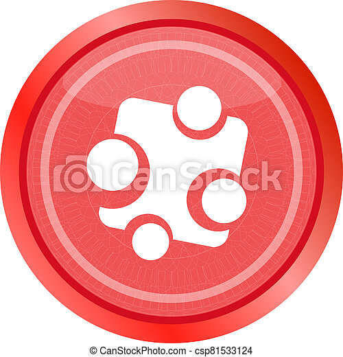 Abstract glossy web button icon, isolated on white - csp81533124