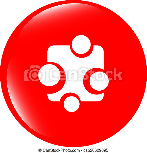 Abstract glossy web button icon, isolated on white - csp20629895