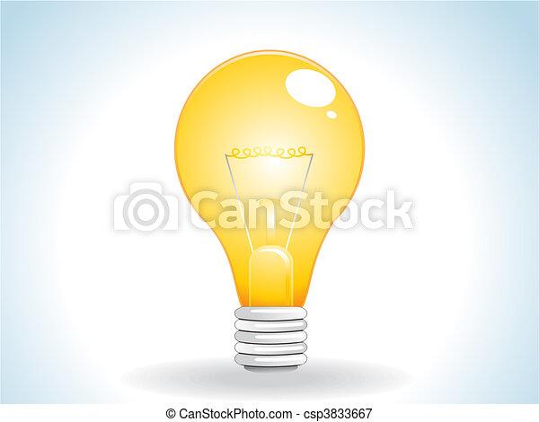 abstract glossy web yellow bulb - csp3833667