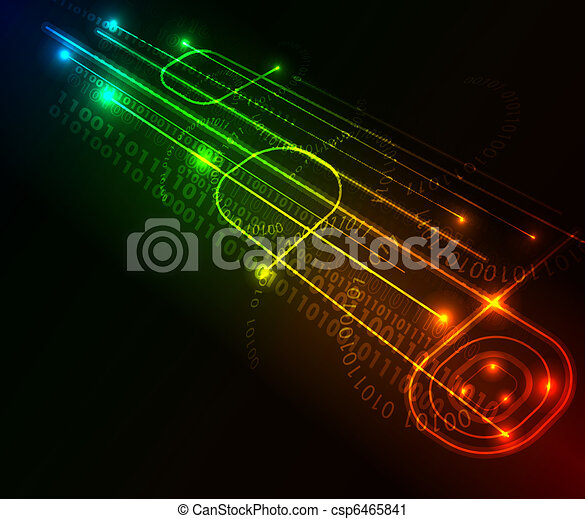 Abstract glowing background - csp6465841