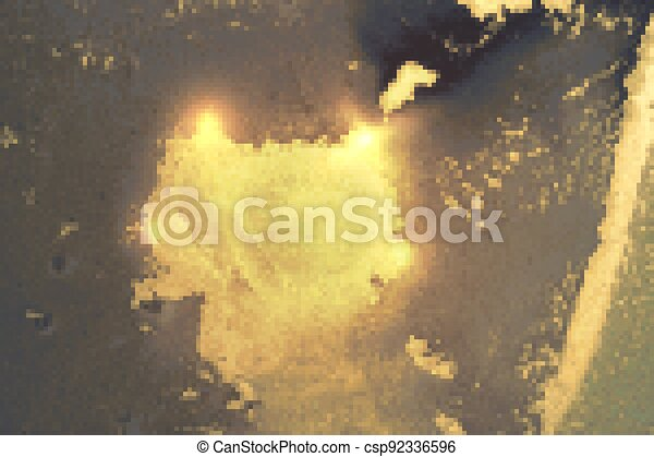 Abstract gold, blue and gray marble texture with sparkles. - csp92336596