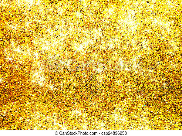 Abstract gold glitter background - csp24836258