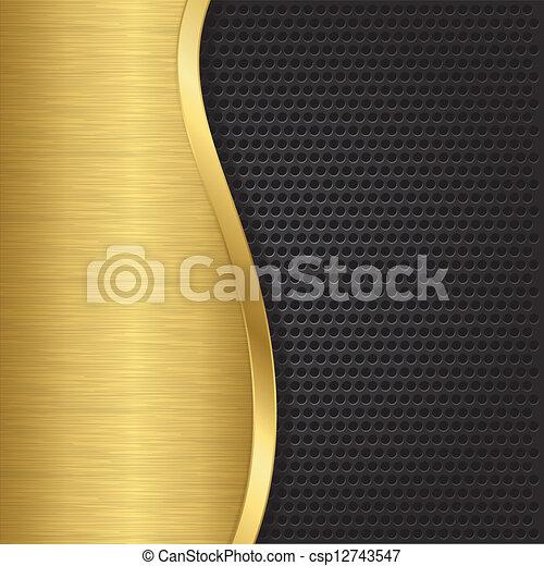 Abstract golden background with met - csp12743547