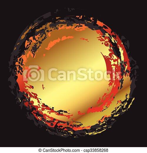 Abstract golden circle art - csp33858268