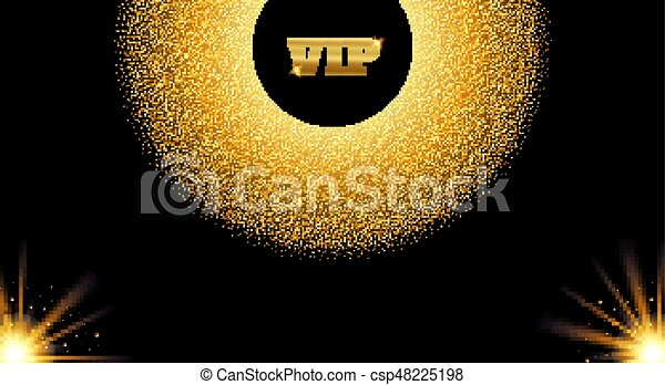 Abstract golden vip invitation card with glow light effect eps abstract golden vip invitation card with glow light effect vector illustration stopboris Gallery
