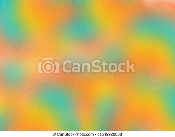 Abstract Gradient Blur Background With Soft Pastel Color Tones Green Blue Orange Yellow Pink